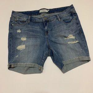 "EUC Torrid approx 7.5"" inseam jean shorts"